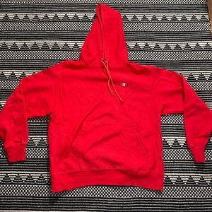 Champion Reverse Weave Men's Red Hoodie